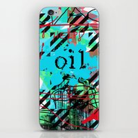 oil iPhone & iPod Skins featuring Oil by Zoé Rikardo