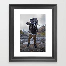 Sneakerhead Elephant Gas Mask by Freehand Profit Framed Art Print