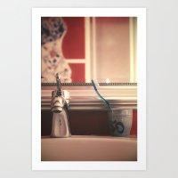 bathroom Art Prints featuring bathroom by Joana Kruse