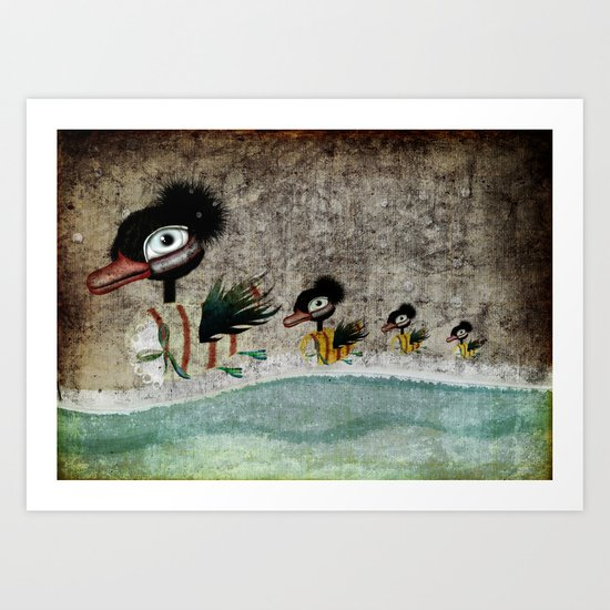 The Ugly Duckling fairytale by Rupydetequila Art Print