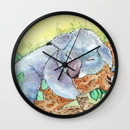 Sleepy Koala Wall Clock