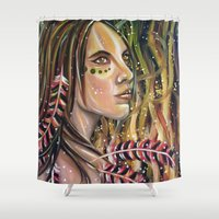 phoenix Shower Curtains featuring phoenix by Beth Jorgensen