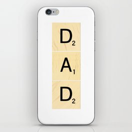 DAD - Vertical Scrabble Tile Art and Accessories for Father's Day iPhone Skin