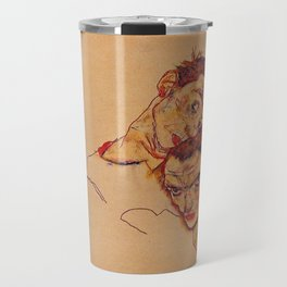 Egon Schiele - Double Self Portrait  Travel Mug