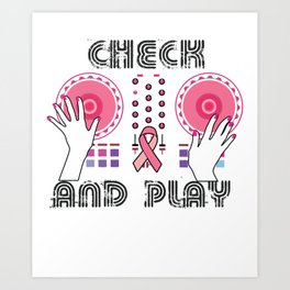 Naughty Breast Cancer Awareness Art For Women Light Art Print