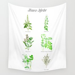 Basic Herbs Wall Tapestry