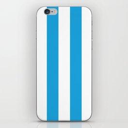 Oktoberfest Bavarian Blue and White Large Cabana Stripes iPhone Skin