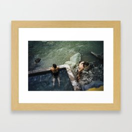 Colca hot springs Framed Art Print