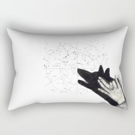 Howling at cosmos Rectangular Pillow