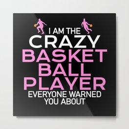 crazy basketball player women Metal Print