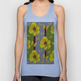 """AMARYLLIS """"FOR THE LOVE OF BUTTERFLIES"""" GREY-GREEN Unisex Tank Top"""
