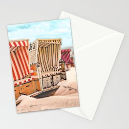 Baltrum Beach Huts, Germany Stationery Cards