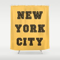 nyc Shower Curtains featuring NYC  by LovebyLucci