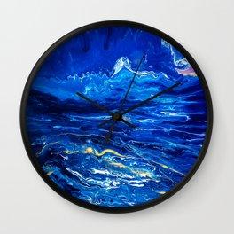 Fluid Expressions - Midnight Seas Wall Clock