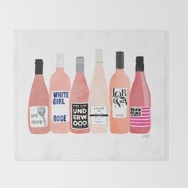 Rose Bottles Throw Blanket