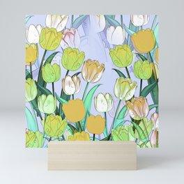 Tulip pattern Mini Art Print