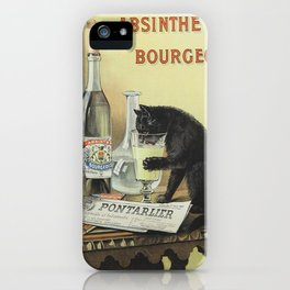 Vintage poster - Absinthe Bourgeois iPhone Case