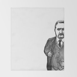 Theodore Roosevelt Did All the Things. Throw Blanket