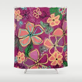 Purely Intentional -Fun Floral - Artwork Shower Curtain