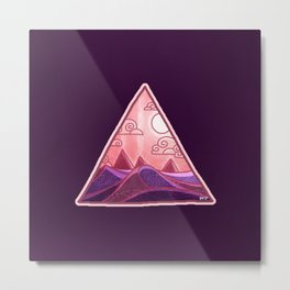 Pyramid Land Metal Print
