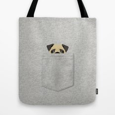 Pocket Pug Tote Bag