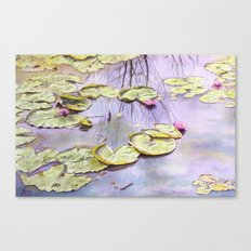 Reflection, watercolor Canvas Print