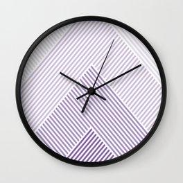Shades of Purple Abstract geometric pattern Wall Clock