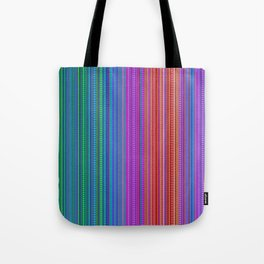 Abstract rainbow dots and lines Tote Bag