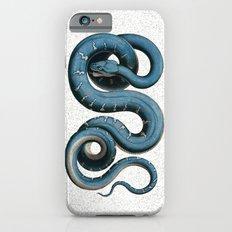 Blue White Vintage Snake Illustration Animal Art iPhone 6 Slim Case