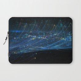 Blue light trail Laptop Sleeve