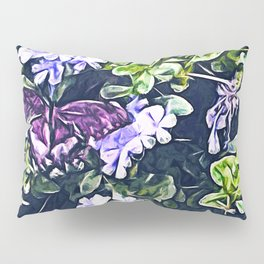 Impression of Summer (Butterfly and Periwinkle) Pillow Sham