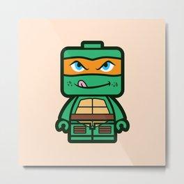 Chibi Michelangelo Ninja Turtle Metal Print