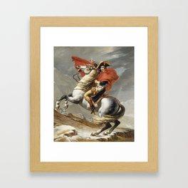 Jacques Louis David - Bonaparte Crossing The Grand Saint Bernard Framed Art Print