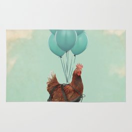 Chickens Can't Fly Rug