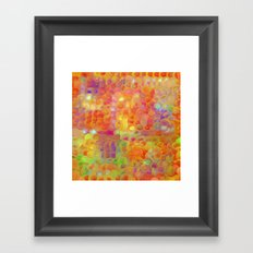 Red Box Rounds Framed Art Print