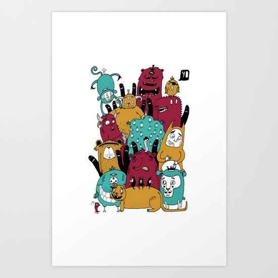 Yo doodle Art Print