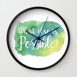 What else is possible? - green Wall Clock