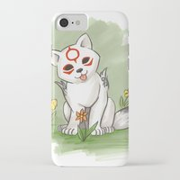 okami iPhone & iPod Cases featuring Okami Chibiterasu by Brandy Woods