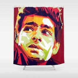 WPAP - Andrew Garfield Shower Curtain