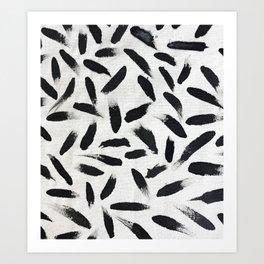 Pintas negras Art Print