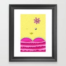 Lovely Chicken! - cute, funny, sweet, Little Chicken! Framed Art Print
