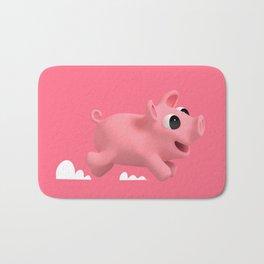 Rosa the Pig running Bath Mat