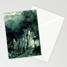 mürekkeple orman Stationery Cards