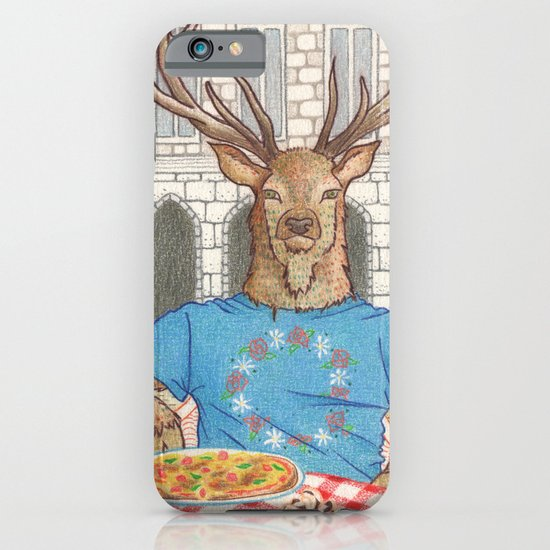 Everyday Animals - Mr Stag eats his lunch iPhone & iPod Case