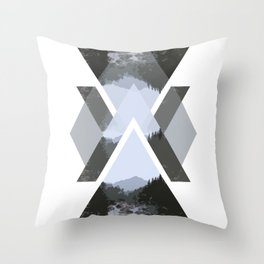 Landscape in Triangles Throw Pillow