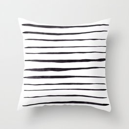 Black Ink Linear Experiment Throw Pillow