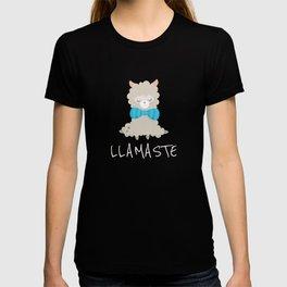 Llamaste Meditating Llama T-shirt