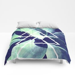 Triangle Blue Agave Comforters
