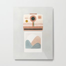 Instant Camera Metal Print