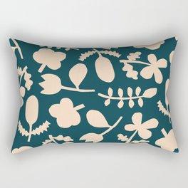 Floral Vase | Blue, Red, + Peach Rectangular Pillow